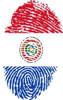 Paraguay, Flag, Fingerprint, Country