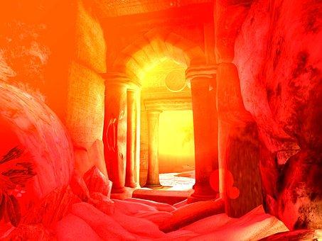 Old, Ancient, Hidden, Passageway, Doorway, Aged