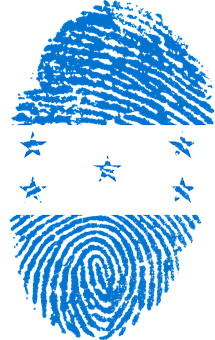 Honduras, Flag, Fingerprint, Country