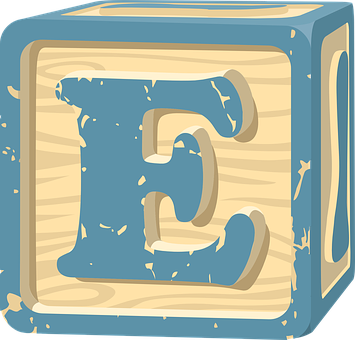 Block, Toy, Game, Alphabet, E, Square, Cube, Preschool