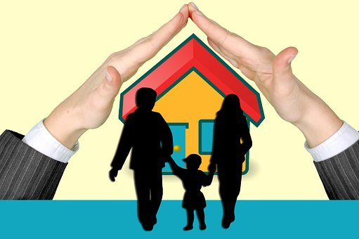 Family, Protection, Hands, House, Insurance, Mother