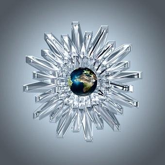 Crystal, Refraction, Light, Earth, Globe, Ball, World