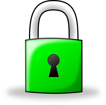 Lock, Padlock, Green, Locked, Protection, Safety, Icon