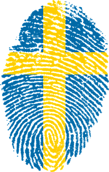 Sweden, Flag, Fingerprint, Country