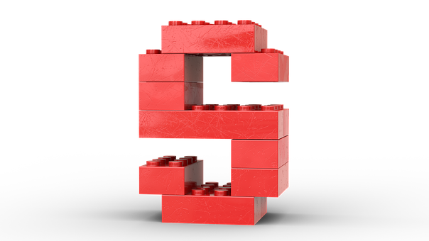 Letter S, Red, Lego, Colourful, Build, Toy, Play