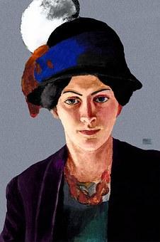Wife, 1909, August Macke, Expressionism, Artist