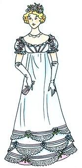 Dress, Fashion, Ball Gown, 19, Century