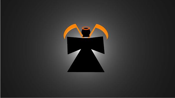 Grim Reaper, Death, Orange, Background Image, Evil