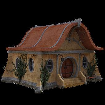 Cottage, Fairy, Ivy, House, Fantasy