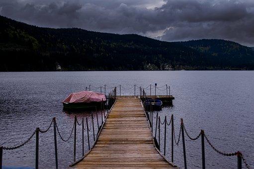 Lake, Jetty, Water, Pier, Nature, Sky