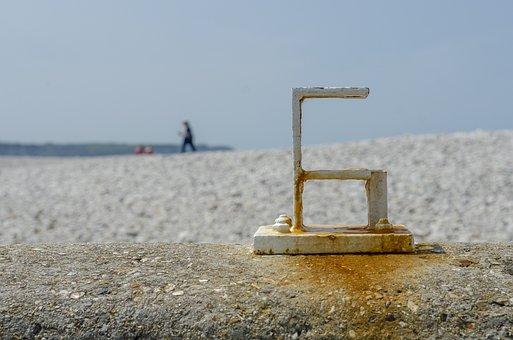 Figure, Six, Roller, Landscape, Beach, White