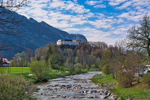Spring, Landscape, Upper Bavaria, Castle, Hohenaschau