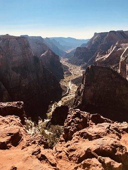 Zion National Park, Landscapes, Canyon, Nature