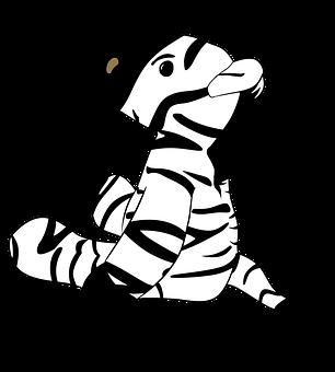Zebra, Animal, Cartoon, Cute