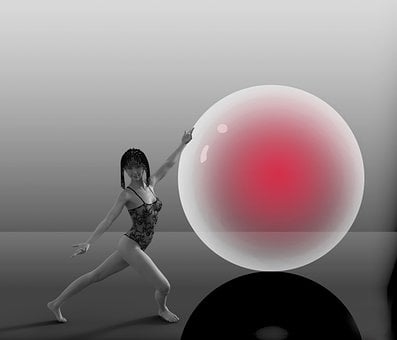 Dancer, Round, Red, Photo Editing, Fantastic