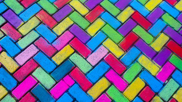 Amsterdam, Road, Colored Brick, Art