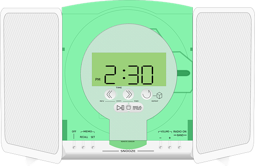 Radio, Player, Clock, Stereo, Music, Recreation, Sound
