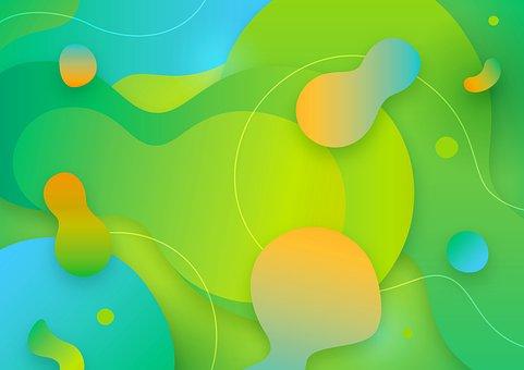 Abstract, Liquid, Water, Fluid, Aqua, Design, Colorful
