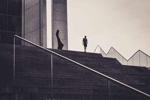 Gradually, Human, Architecture, Modern, Building, City
