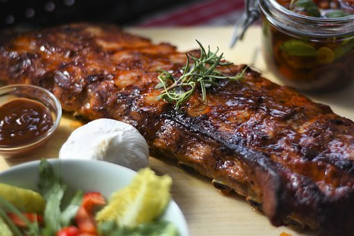 Spare Ribs, Grill, Bbq, Barbecue, Peeling Ribs, Meat
