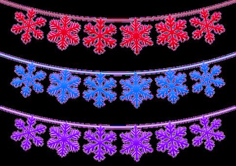 Christmas Snowflake Banner, Christmas Bunting