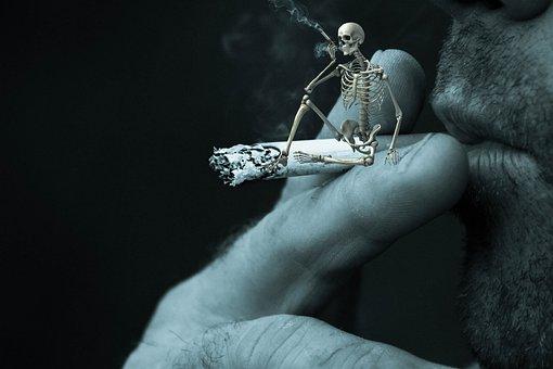 Fantasy, Composing, Smoking, Death, Skeleton