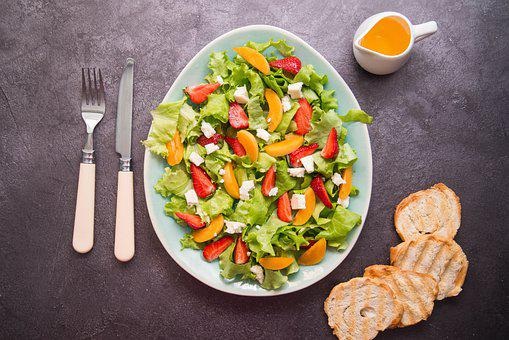Salad, Summer, Vegetables, Feeding