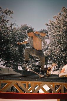 Skating, Red Bull, Skater, Skateboard, Sport, Fun, Jump