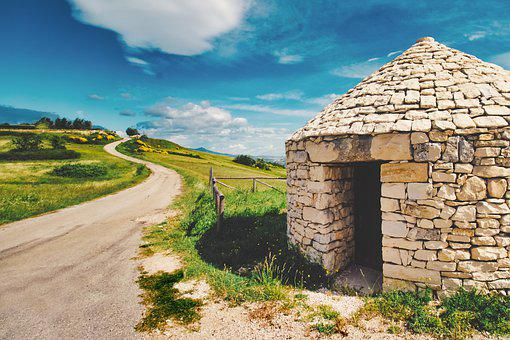 Trulli, Country Road, Nature, Landscape