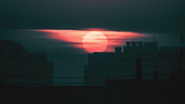 Sunset, City, Architecture, London, Sky, Mood, Evening