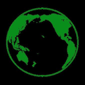 Earth, Green, Globe, Pacific Ocean, Global, Planet