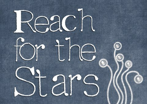 Motivational, Reach, Stars, Texture, Decorative