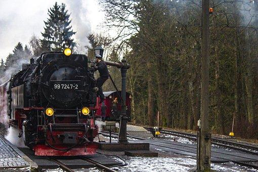 Train, Steam Engine, Railway, Smoke, Travel, Transport