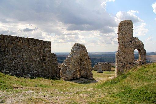Branč, Castle, Ruins, Basket Case, The Middle Ages, Old