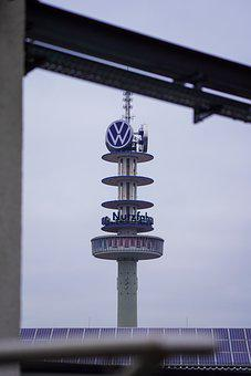 Volkswagen, Car, Tower, Urban, Street, Vehicle, Vw