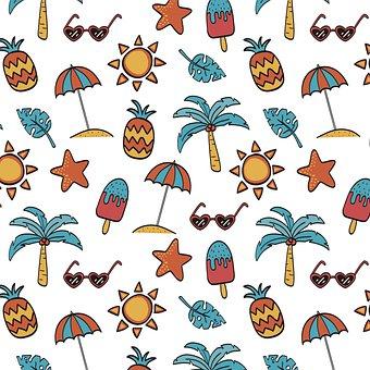Summer, Pineapple, Fruit, Tropical, Green, Ice Cream