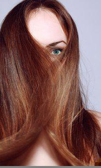 Young, Woman, Female, Long, Red, Hair, Hairs, Face