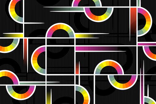 Background, Abstract Semi-Circles