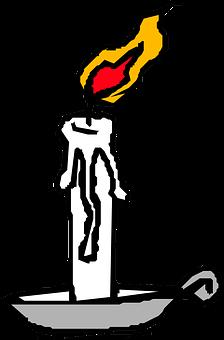 Candle, Lit, Flame, Light, Burning, Melting