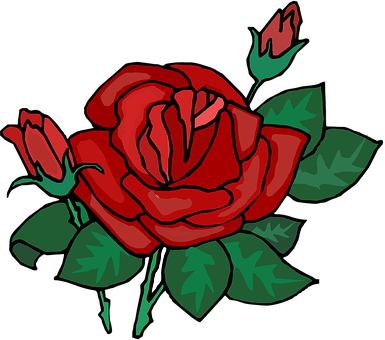 Rose, Red, Bud, Leaves, Deep, Ornament, Floral