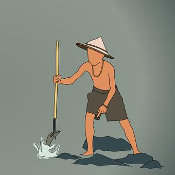 Fishing, Boy, Man, Food, Seafood, Fish
