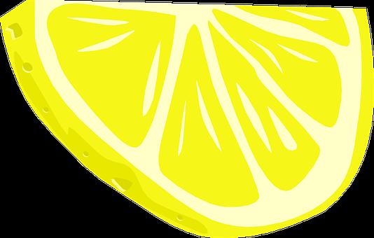Half Slice Of Lemon, Fruit, Food, Juicy, Ripe, Sour