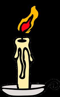 Candle, Flame, Lit, Burning, Yellow, Wax, Melting