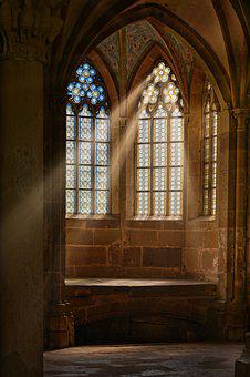 Church Window, Monastery, Window, Stained Glass