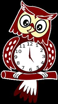 Clock, Hour, Javascript, Minute, Owl, Script, Scripted