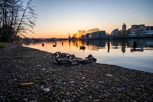 Berlin, Water, Sunset, Spree, Building