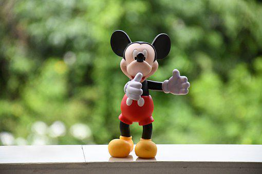 Micky Mouse, Toy, Disney, Cute, Sweet, Figures, Happy