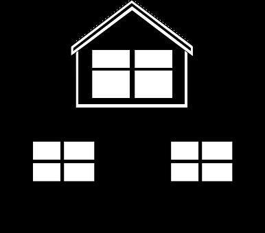 Black, Home, House, Icon, White