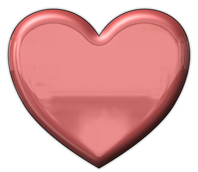 Heart, Metallic, Valentine, Love, Metal, Red