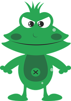 Frog, Mean, Angry, Character, Funny, Green, Man, Amphib